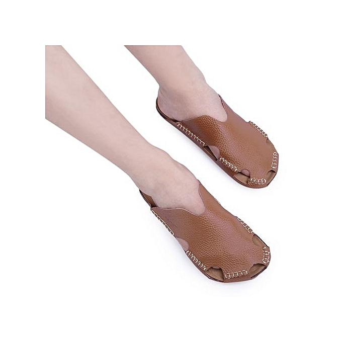 Fashion Stylish Male Closed Toe Solid Color Hollow Skid Resistance Resistance Skid Leather Slippers à prix pas cher  | Jumia Maroc e915ff