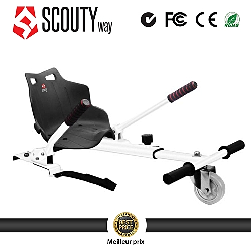 scoutyway hoverkart hoverboard kart hoverboard si ge blanc. Black Bedroom Furniture Sets. Home Design Ideas
