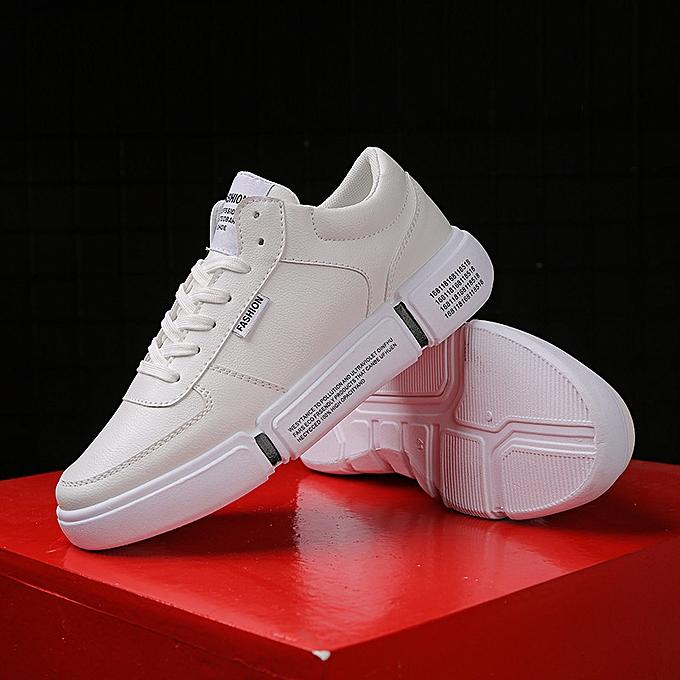 Fashion Fashion blanc chaussures low to help hommes chaussures casual sports chaussures 4 Khaki à prix pas cher    Jumia Maroc