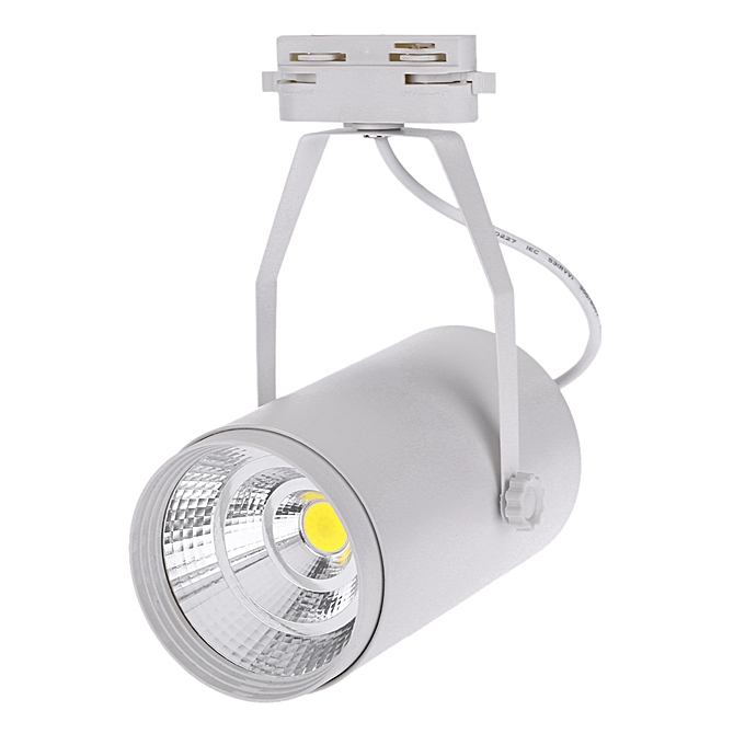 Other 15W AC85-265V 1350LM COB Track Rail LED Light Spotlight Lamp Adjustable for Shopping Mall Clothes Store Exhibition Office Use noir à prix pas cher
