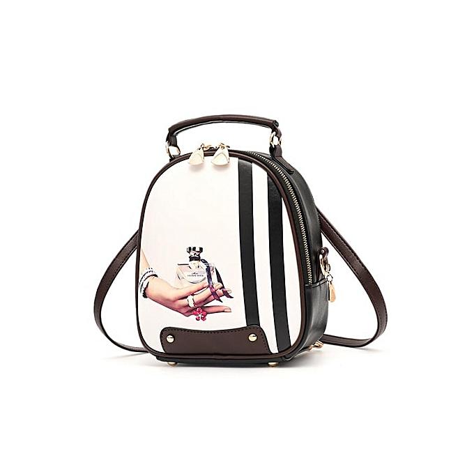 Other Multi-Function femmes sac à dos mode Shoulder sac Couleur impression PU cuir Female petit sac à doss High Quality(style 2) à prix pas cher