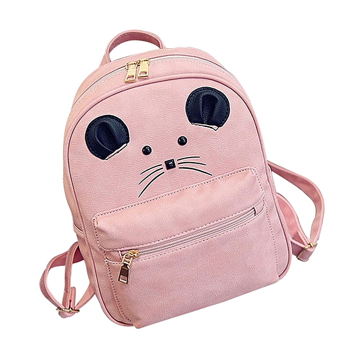 Fashion Hiamok _Fashion Girls Backpack Leisure School Bag Travel Pack Backpacks +Card Bag à prix pas cher