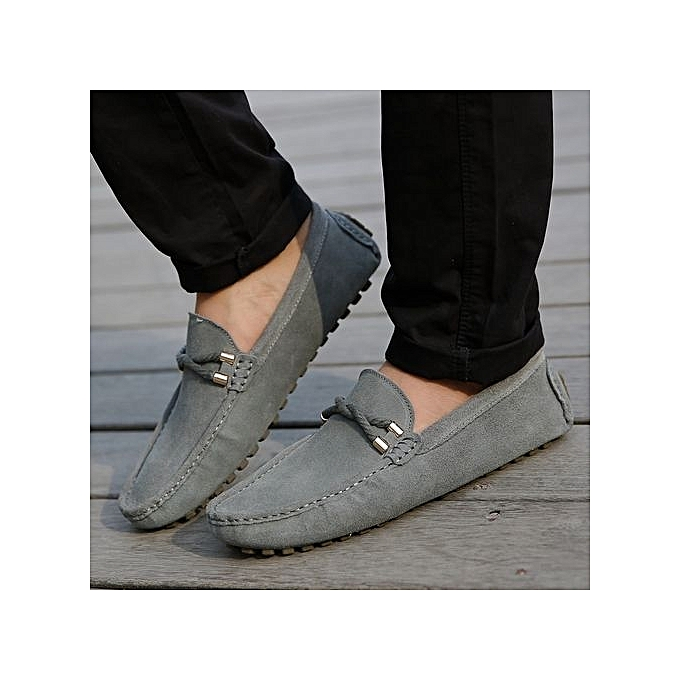 Fashion  's Loafers Suede Leather Slip-On Loafers 's With Front Detail-Grey à prix pas cher  | Jumia Maroc 29abc7