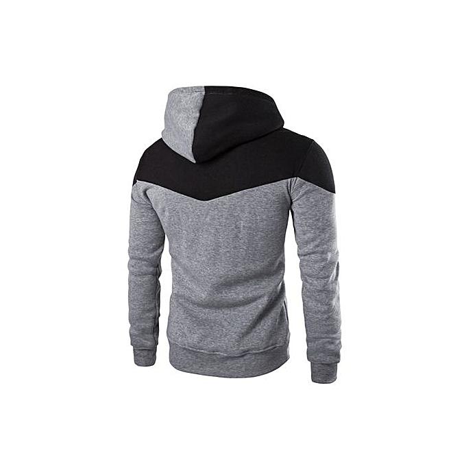 mode Hiamok Hommes Winter Slim sweat à capuche Warm encapuchonné Sweatshirt Coat veste Outwear chandail GY L à prix pas cher