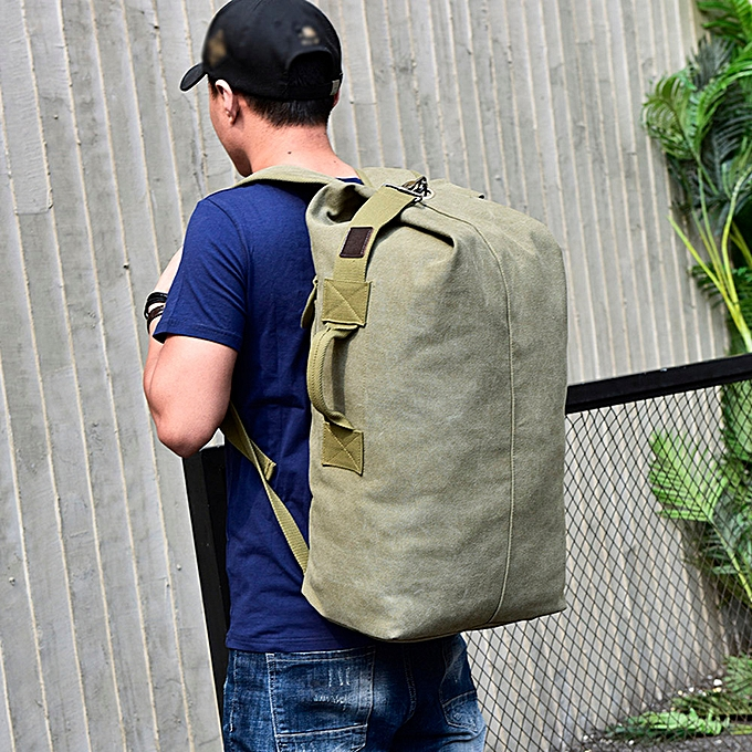 Fashion Xiuxingzi Vintage Neutral Outdoor Travel Canvas Backpack High Capacity Satchel Hiking Bag à prix pas cher