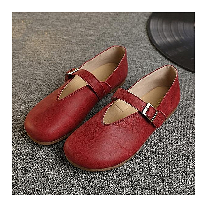 Fashion SOCOFY Hollow Out Buckle Leather Soft Flat Flat Soft Casual Slip On Loafers Fashion WoHommes  Shoes à prix pas cher  | Jumia Maroc 81ba35