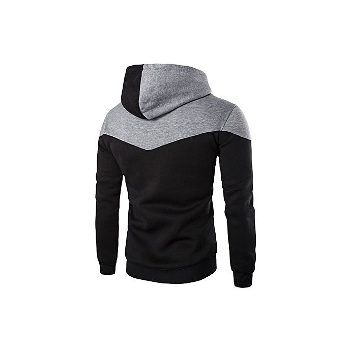 Fashion Hiamok Men Winter Slim Hoodie Warm Hooded Sweatshirt Coat Jacket Outwear Sweater BK L à prix pas cher