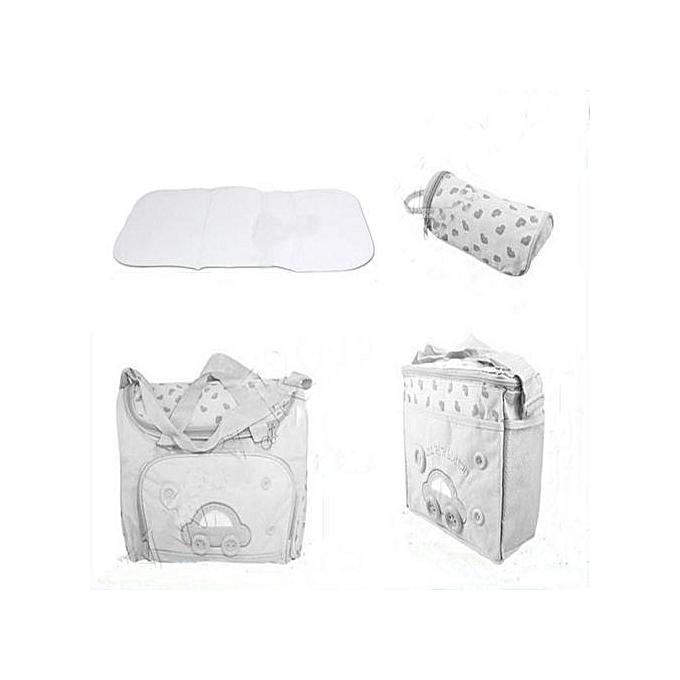 Siketu 4pcs   Changing Diaper Nappy sac Pad Mummy Mother Multifunctional Handsac LB- lumière bleu à prix pas cher