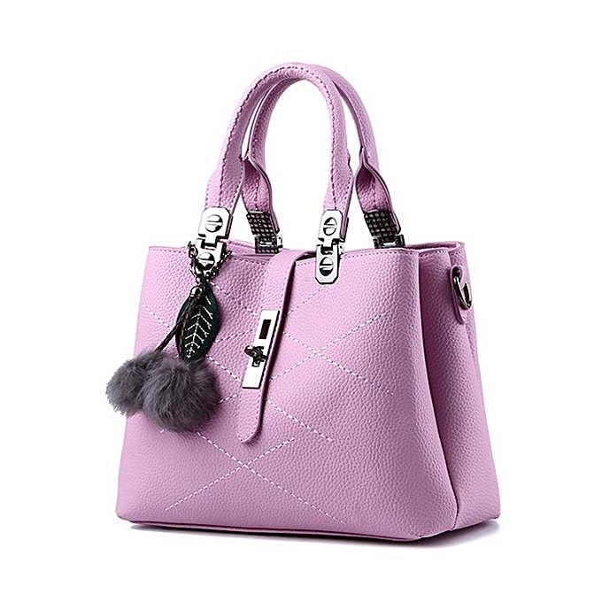 Fashion femmes Quality PU Leather Functional Handbag Shoulder Bag Crossbody Bags  violet à prix pas cher