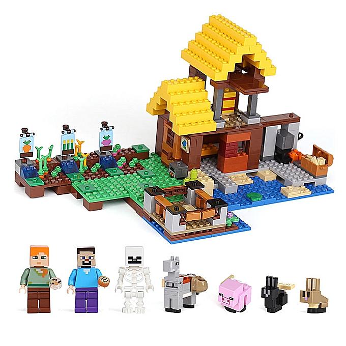 Autre LEPIN 18039 615pcs Minecraft Series the Farm Cottage Model Building Blocks Bricks Kit - Plastic sac Packaged à prix pas cher