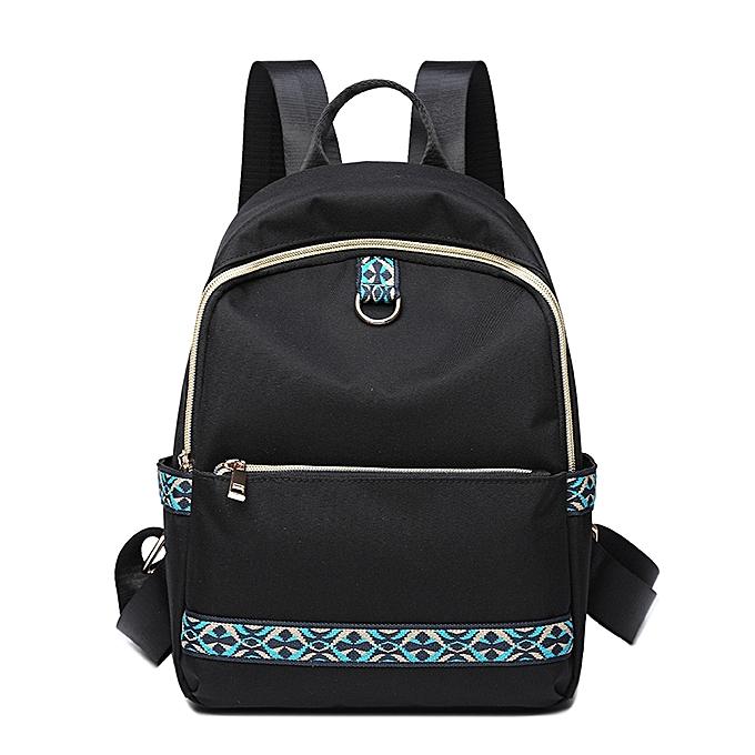 mode Wohommes imperméable voyage sac à doss Female Shoulder sac -noir&Khaki à prix pas cher