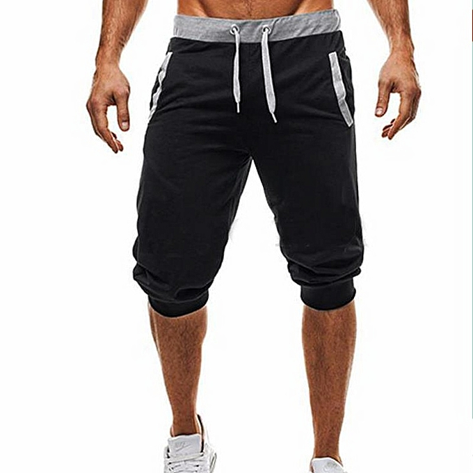 Other New Stylish Men's Casual  Sports Slimming Pants Fitness Jogging Pants-noir à prix pas cher