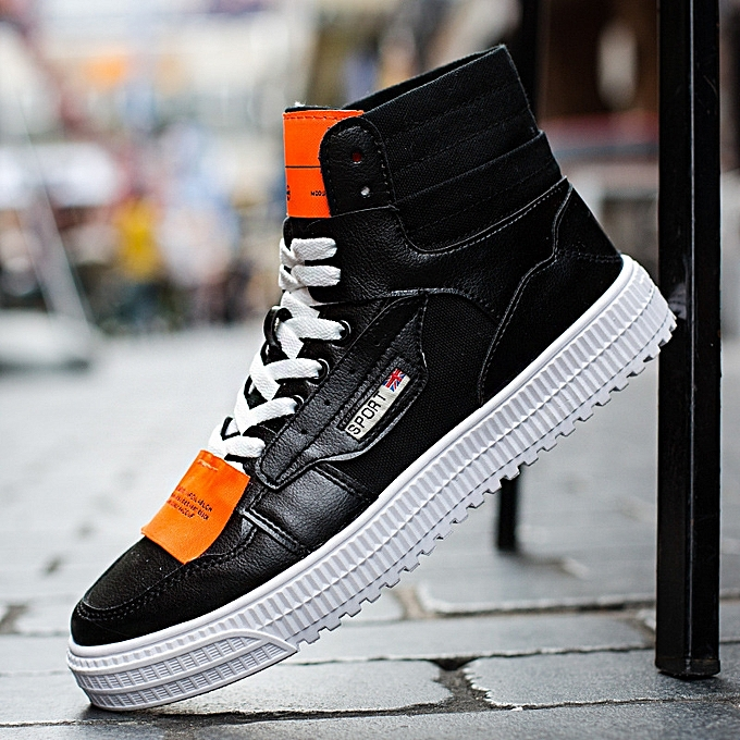 OEM New Korean casual baskets chaussures hommes increased help Martin bottes-noir à prix pas cher