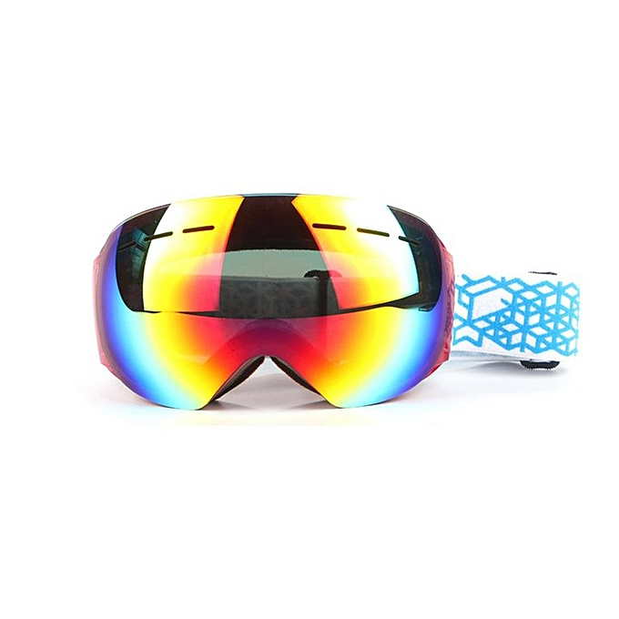 Generic Home-Unisex Frameless Ski Goggles Double-layerouge Fog-proof Windproof Eyewear HX002rouge à prix pas cher