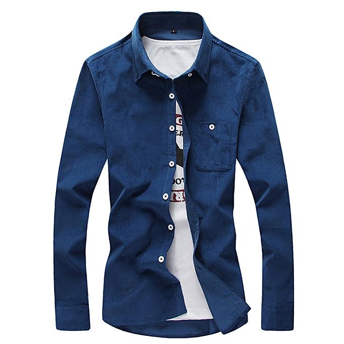 Fashion Men's Autumn Winter Long Sleeve Shirt Top Blouse à prix pas cher