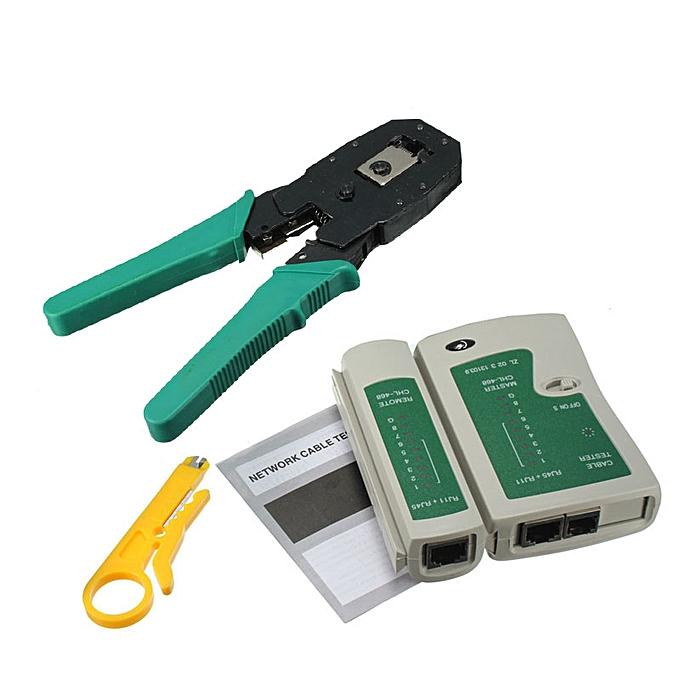 Other RJ45 RJ11 RJ12 Portable LAN Network Tool Kit UTP CAT5 CAT5e Cable Tester And Plier Crimp Crimper Plug Clamp PC M25 à prix pas cher