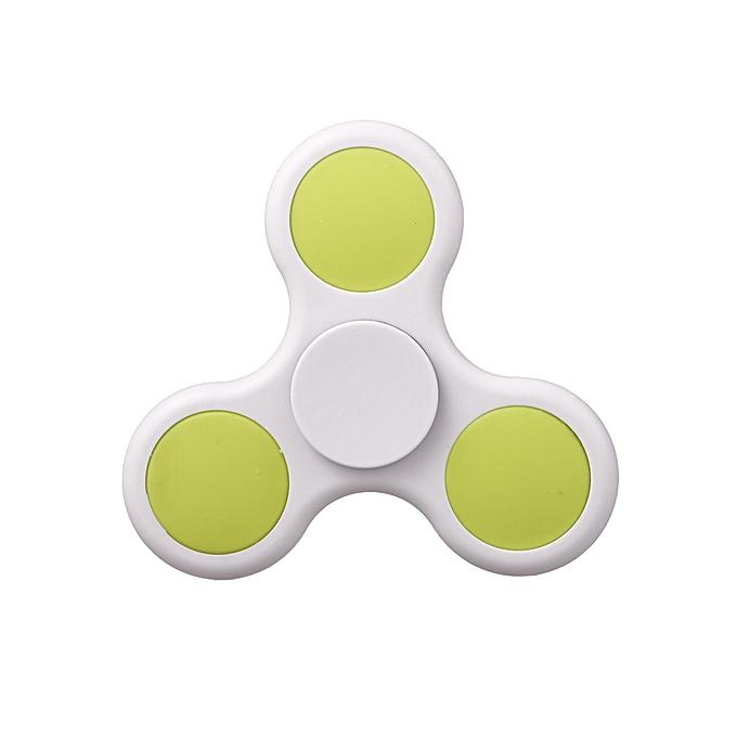 Sunshine Plastic Hand Spinner 360 Tri Fidget EDC Focus Desk Hand Toys Stress rougeuce-blanc à prix pas cher