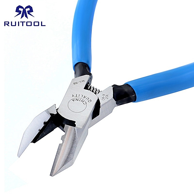 Other 6  Wire Cutter 160mm Pliers Side Cutters CR-V Wire Stripper Tool For Electrician Deburring Plastic Edge à prix pas cher