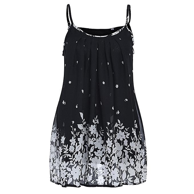 Fashion Wohommes Fashion Braces Dress Wohommes Sling Print Summer Casual à prix pas cher