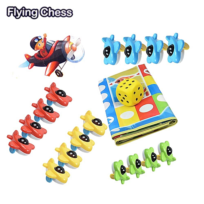 Generic 3D Mini  Plane  en volant Chess  And  Mats Family Game Intelligence Toy Party Fun à prix pas cher