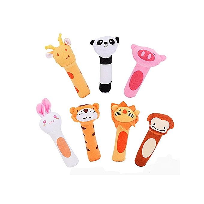 UNIVERSAL Vvcare BC-Q3 2017 New Baby Rattle Infant  Animals Beeps Music Soft Plush Toys Holding Rattles-Giraffe à prix pas cher