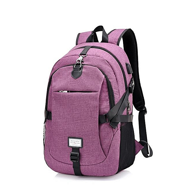 Fashion IPRee 49x32x16cm Canvas Anti Theft Travel Backpack with USB Charging port Portable Rechargeable Bag à prix pas cher