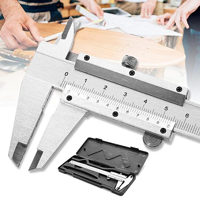UNIVERSAL New 150mm 6  Stainless Steel Vernier Caliper Gauge Measuring Tool Paquimetro Set à prix pas cher