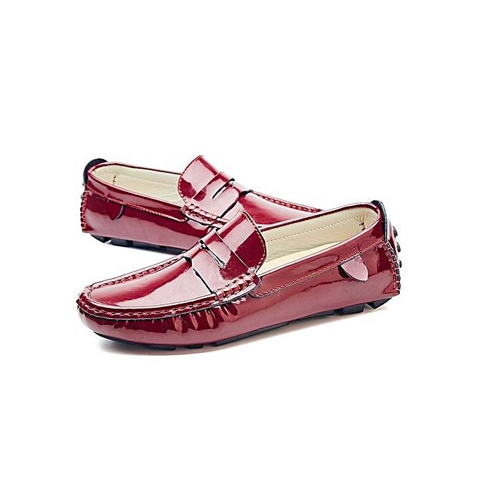 Fashion Casual Shoes Sequins Genuine Leather Slip-on Shoes-Burgundy  à prix pas cher  Shoes-Burgundy | Jumia Maroc 3044b4