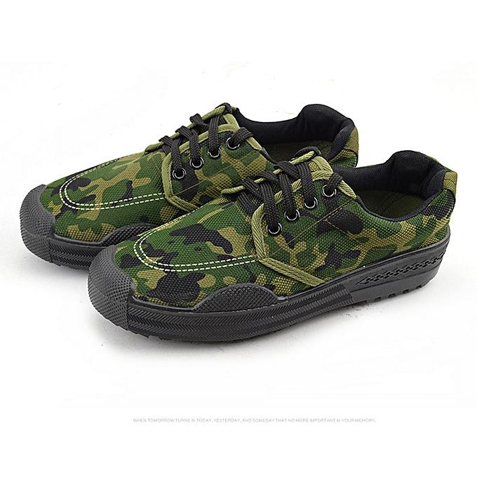 mode Hommes's rubber chaussures de plein air work non-slip Faible-top rubber chaussures - vert à prix pas cher
