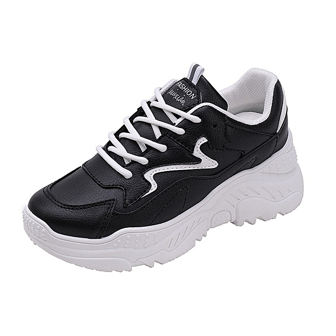 Autre Stylish Ins WoHommes WoHommes Ins 's Black and White Breathable Sports Shoes à prix pas cher  | Jumia Maroc 3e863f