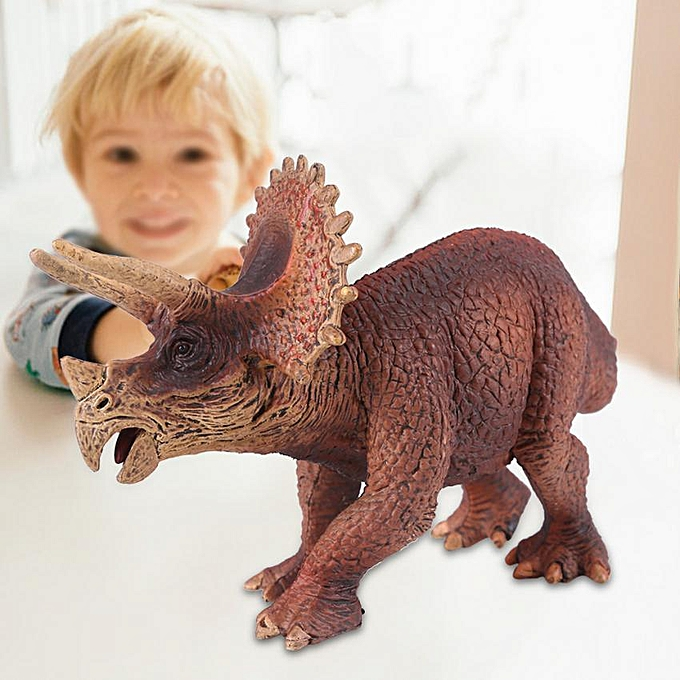 Other Realistic Triceratop Dinosaur Animal Model Figure Kids Early Educational Toys Gift à prix pas cher