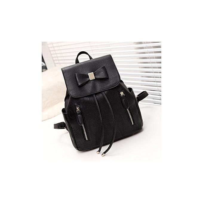 OEM Multi-function Backpack For femmes Bow Travel Bags School College Bag Casual-noir à prix pas cher