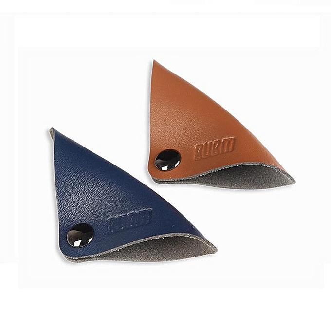 UNIVERSAL BUBM LXDC 2Pcs Magnetic Leather Cable Straps Cable Tie Wraps Cord Management Holder à prix pas cher