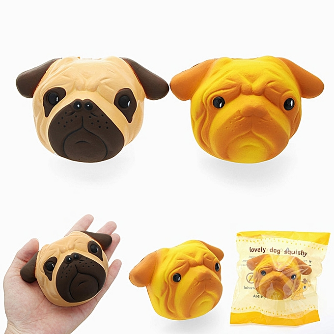 UNIVERSAL SquishyShop Dog Puppy Face Bread Squishy 11cm Slow Rising With Packaging Collection Gift Decor Toy-noir à prix pas cher