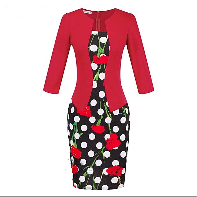 OEM Refined femmes& 039;s professional sac hip pencil mode comfortable Robe-20 à prix pas cher
