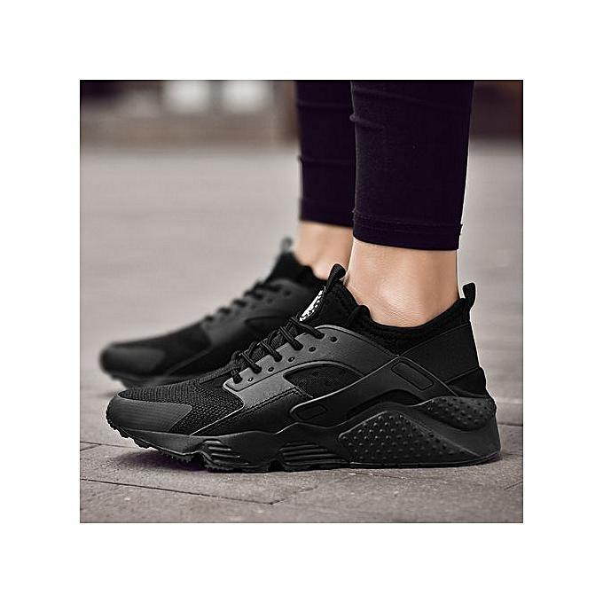 Fashion Unisex Fashion baskets Huarache Casual Footwear noir à prix pas cher