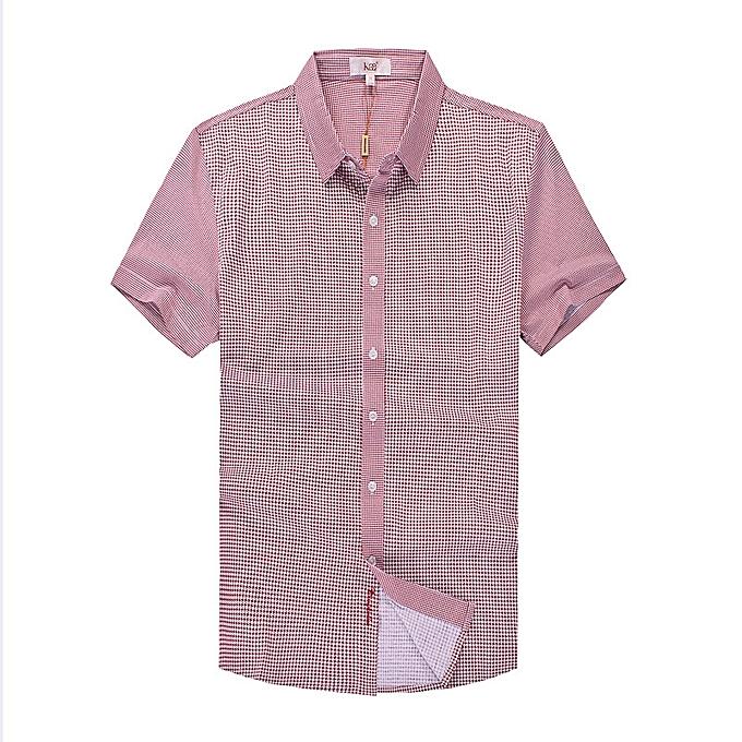 mode Pour des hommes impression Décontracté mode manche courte été Turn Down Collar Shirts à prix pas cher