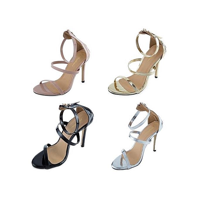 Fashion Sexy   Zipper Decoration Thin High Heel Heel High Sandals-NUDE à prix pas cher  | Jumia Maroc 757875