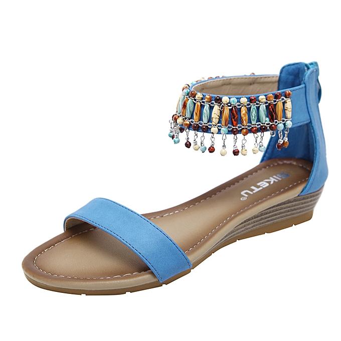 Fashion femmes Summer Casual Rohomme Zipper Low Heels Wedges Sandals Work chaussures à prix pas cher    Jumia Maroc