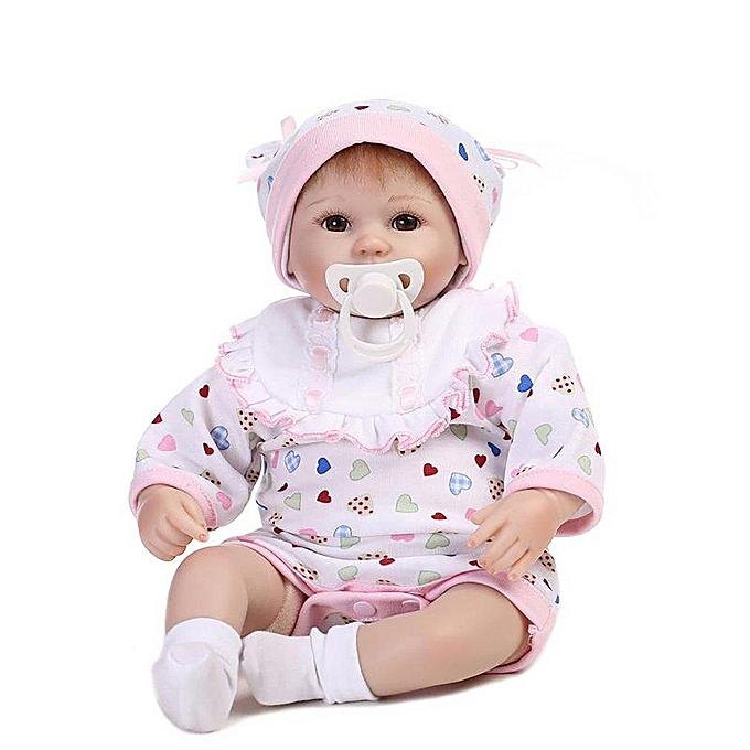 Autre Poupée bébé renée en silicone avec yeux ouverts, 16 pouces, rose à prix pas cher