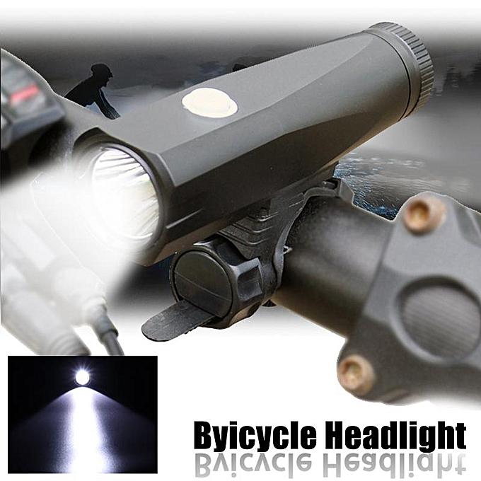 UNIVERSAL Bicycle Headlight Highlight LED T6 Beads 800 Lumen Rechargeable 5 Light Modes noir à prix pas cher