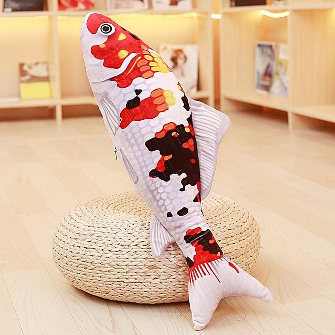 Autre Koi Plush Toys Stuffed Soft Fish Doll Soft Koi PilFaible Plush orfish Cushion Cat's Toys (B) à prix pas cher