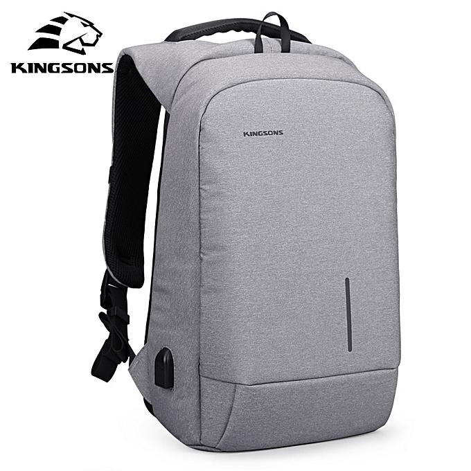 GENERAL Kingsons Anti-Theft 15.6 Inch USB Charging Backapcks School sac à dos sac Laptop Computer sacs Hommes's Wohommes voyage sacs à prix pas cher