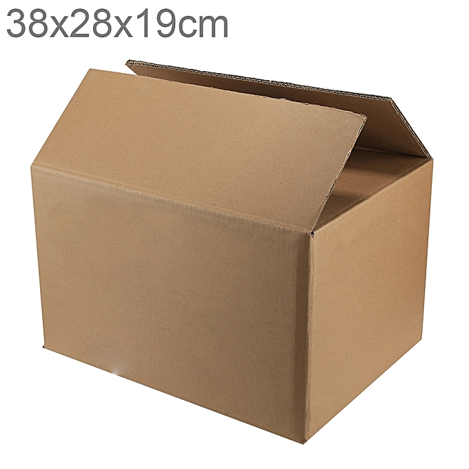 UNIVERSAL Shipping Packing Moving Kraft Paper Boxes, Taille  38x28x19cm à prix pas cher