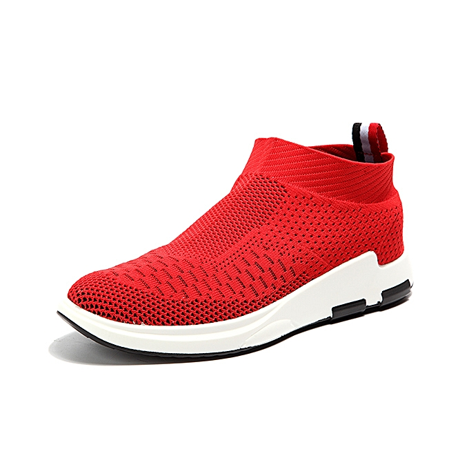Fashion Men Breathable Knitted Casual Shock Absorption baskets à prix pas cher