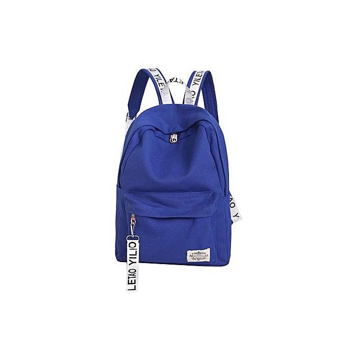 mode SingedanUnisex toile School Style voyage Satchel School sac sac à dos sac DB -Dark bleu à prix pas cher