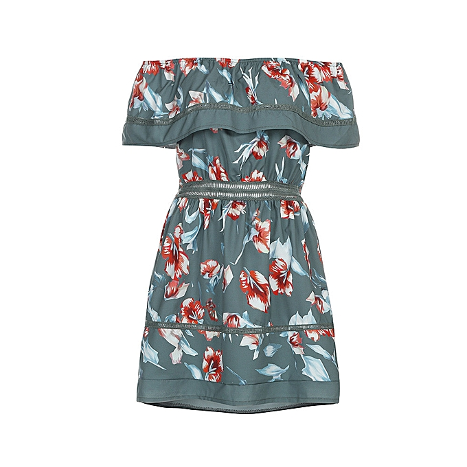 Fashion quanxinhshang femmes Ladies Off Shoulder Butterfly Draped Dress Short Elegent Print Sundress à prix pas cher