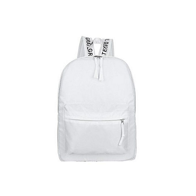 Generic femmes Female sac à doss Décontracté Solid Couleur Zipper sac Students School sacs à prix pas cher