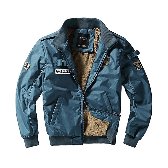 Fashion Fashion Bomber Jacket Fleece Thick Warm Pilot Flight Jackets for Men à prix pas cher