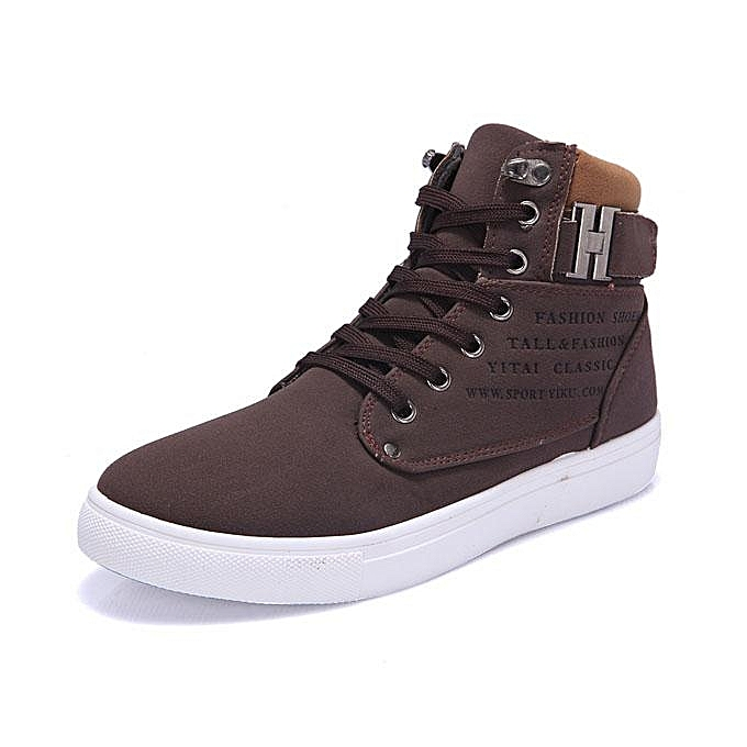 Fashion New     Matte-leather High Top Fashion Sneakers Breathable Causal Flat Sports Shoes-EU à prix pas cher  | Jumia Maroc 1fc33e